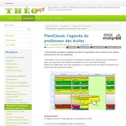 PlaniClasse, l'agenda du professeur des écoles - Théosept