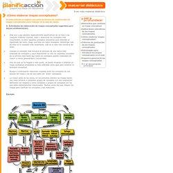 Planificacción - ¿Cómo elaborar mapas conceptuales?
