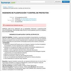 INGENIERO DE PLANIFICACIÓN Y CONTROL DE PROYECTOS