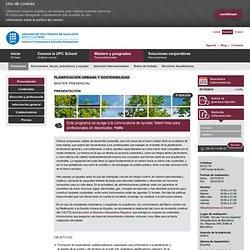 Planificación Urbana y Sostenibilidad > Barcelona > Máster