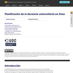 Planificación de la docencia universitaria en línea