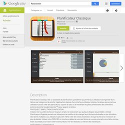 Planificateur Classique – Applications Android sur Google Play