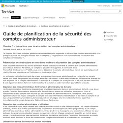 Guide de planification de la sécurité des comptes administrateur - Chapitre3