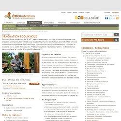 Rénovation écologique: Planification et choix de matériaux