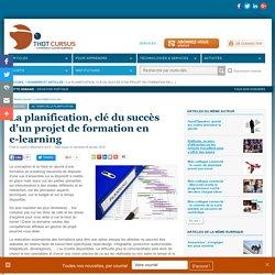 La planification, clé du succès d'un projet de formation en e-learning
