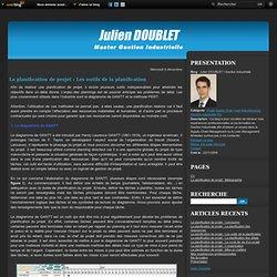La planification de projet : Les outils de la planification - Julien DOUBLET / Gestion Industrielle