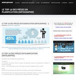 Le top 10 des pièges en planification (infographie)