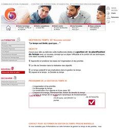 Formation et stage en gestion et planification du temps et de l'organisation du travail à Marseille
