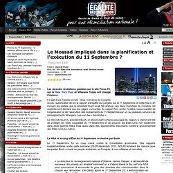 Le Mossad impliqué dans la planification et l'exécution du 11 Septembre ?