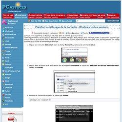 Planifier le nettoyage de la corbeille - Windows toutes versions