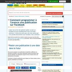 Comment planifier une publication sur Facebook