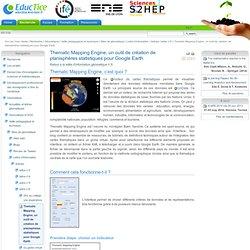 Thematic Mapping Engine, un outil de création de planisphères statistiques pour Google Earth