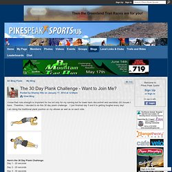 The 30 Day Plank Challenge - Want to Join Me? - Pikes Peak Sports