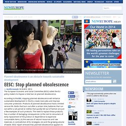EESC: Stop planned obsolescence | neurope.eu