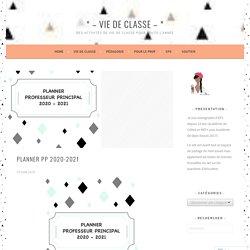 PLANNER PP 2020-2021 – * – VIE DE CLASSE – *