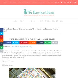 free planner and calendar + more {2015} - the handmade homethe handmade home