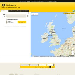AA Route Planner: Routes, maps and directions