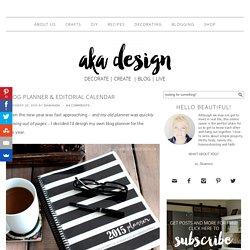 Blog Planner & Editorial Calendar