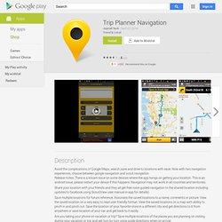 Trip Planner Navigation