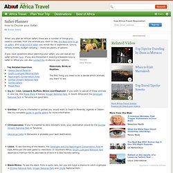 Africa Safari Planner - Planning Your African Safari