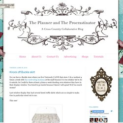 The Planner and The Procrastinator: Knock off Buckle skirt