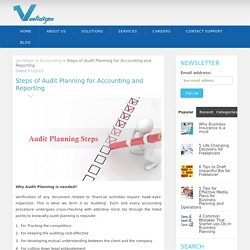Steps of Audit Planning for Accounting and Reporting