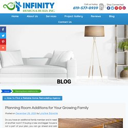 Planning Room Additions for Your Growing Family