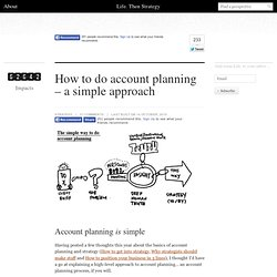 How to do account planning – a simple approach | Life. Then strategy