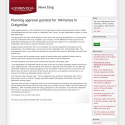 Planning approval granted for 194 homes in Craigmillar - News blog