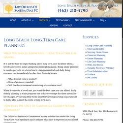 Long Beach Long Term Care Planning Assistance