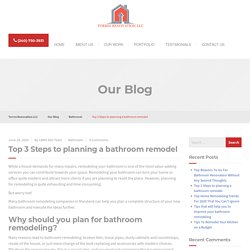 Why should you plan for bathroom remodeling?