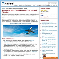 Around the World Travel Planning Checklist and Timeline