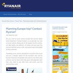 Planning Europe trip? Contact Ryanair!