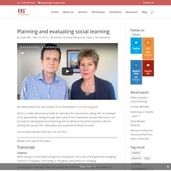 Planning and evaluating social learning