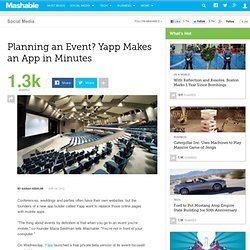 Planning an Event? Yapp Makes an App in Minutes