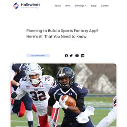 Planning to Build a Sports Fantasy App? Here's All That You Need to Know- Halkwinds