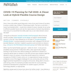 COVID-19 Planning for Fall 2020: A Closer Look at Hybrid-Flexible Course Design - PhilOnEdTech