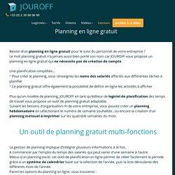 Planning gratuit