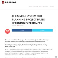 The Simple System For Planning Project Based Learning Experiences