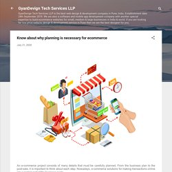 Know about why planning is necessary for ecommerce