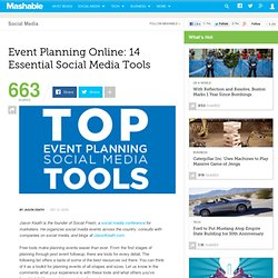 Event Planning Online: 14 Essential Social Media Tools