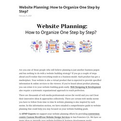 Website Planning: How to Organize One Step by Step? – Telegraph
