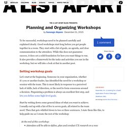 Planning and Organizing Workshops · An A List Apart Blog Post