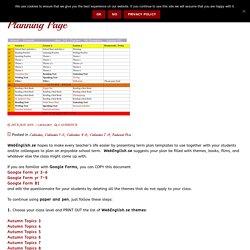 Planning Page WebEnglish.se