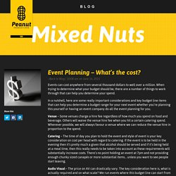 Event Planning - What's the cost? - Peanut Productions