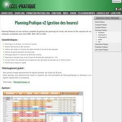 Gestion de plannings sous Excel