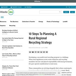 10 Steps To Planning A Rural Regional Recycling Strategy