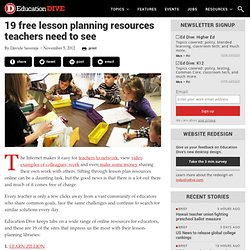 19 free lesson planning resources teachers need to see