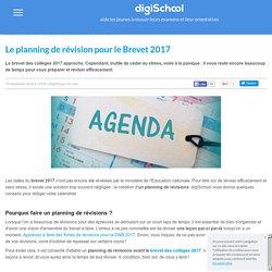 Faire un planning de révisions pour le Brevet 2017