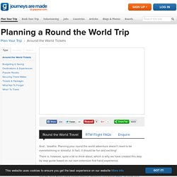 Planning a Round the World Trip - RTW Travel - Gap Year